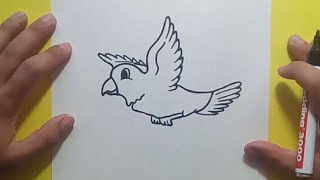 Como dibujar un pajaro paso a paso 5 | How to draw a bird 5