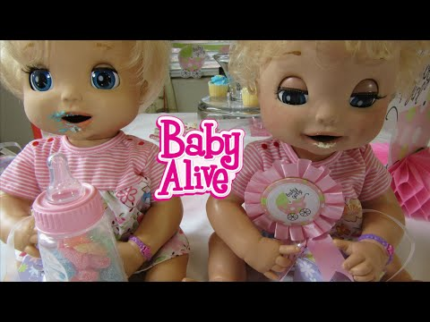 Baby Alive 2006 Soft Face Twin London and Paris Baby Shower! By Baby Alive Channel