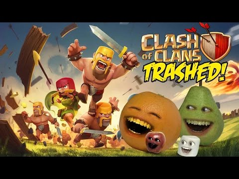 Annoying Orange – CLASH OF CLANS: FLIGHT OF THE BARBARIAN TRAILER Trashed!!