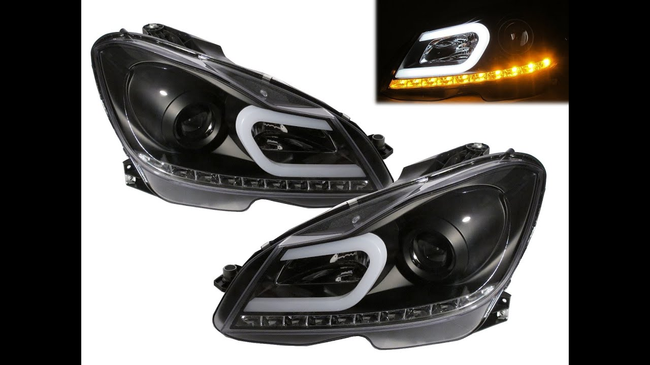 Crazythegod w204 2012 facelift ccfl projector headlight for Mercedes benz c300 headlights