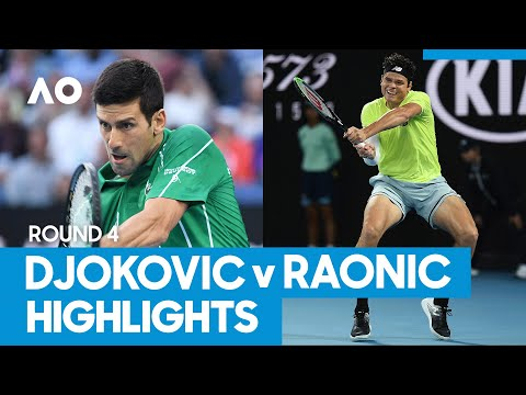 Novak Djokovic vs Milos Raonic Match Highlights (4R) | Australian Open 2021