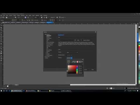 How To Turn Corel Draw X7 Black Youtube