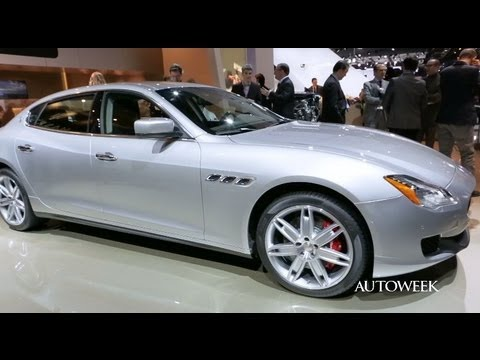 2014 Maserati Quattroporte at the Detroit auto show - Autoweek detailed walkaround