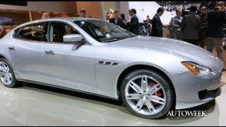 2014 Maserati Quattroporte at the Detroit auto show - Autoweek detailed walkaround