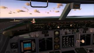 fs9 fs2004 landing at El. Venizelos aiport, Athens, Greece. Boeing 737-800 PMDG.