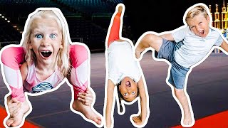 Last to TALK + GYMNASTiCS Challenge!!!