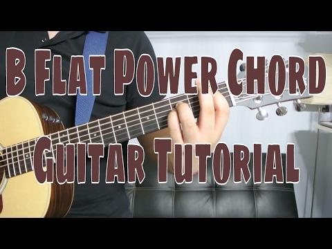 how-to-play-a-b-flat-power-chord-(chord-guitar-tutorial!!)