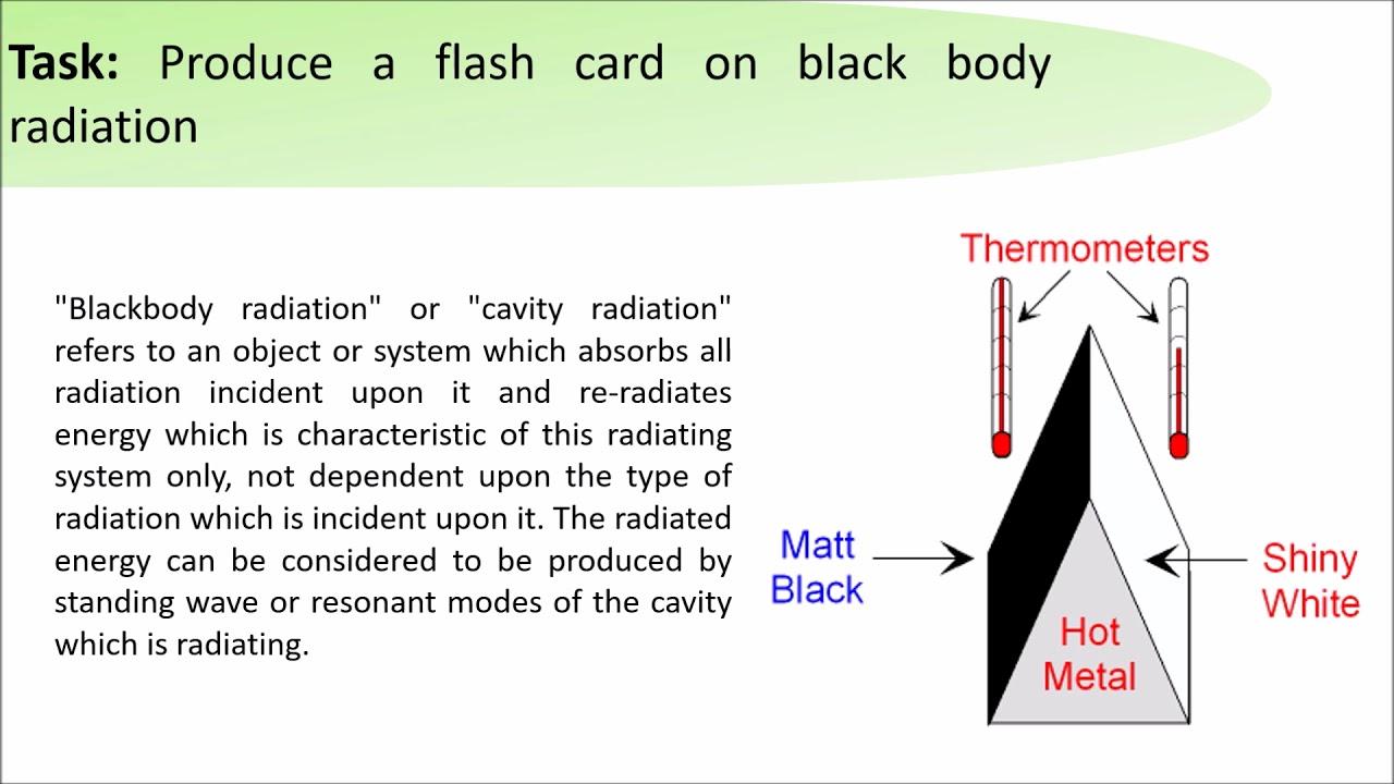 GCSE Science Daily Revision Task 106:  Black Body Radiation - YouTube