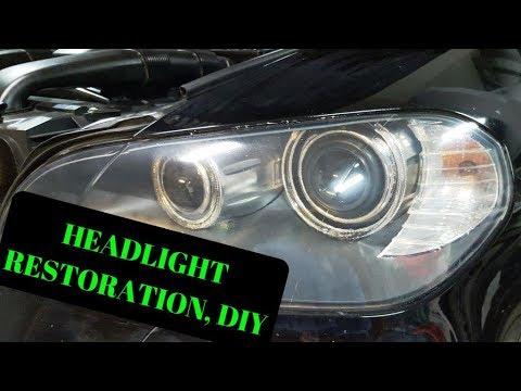 How To: HeadLight Restoration Plastic Lenses, BMW X5 E70 SUV 4.8I, DIY