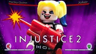 LEGO Injustice 2 Stop Motion | Harley Quinn vs Joker Fight