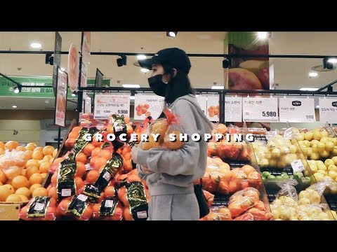 🛒GROCERY SHOPPING IN KOREA + My Daily Pamper Routine 🛀