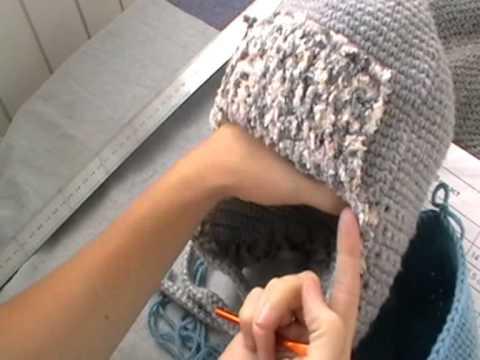 шапка зимняя крючком (+шапка чулок). Часть 2