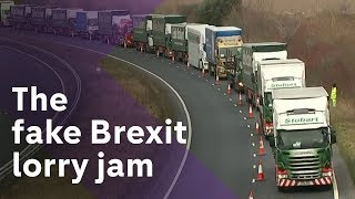 The fake Brexit lorry jam – government preps ahead of MPs' vote
