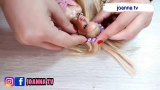 كيف تصنعي ملابس للعبه باربي مع حذاء بسهوله ؟   DIY how to make barbie clothes