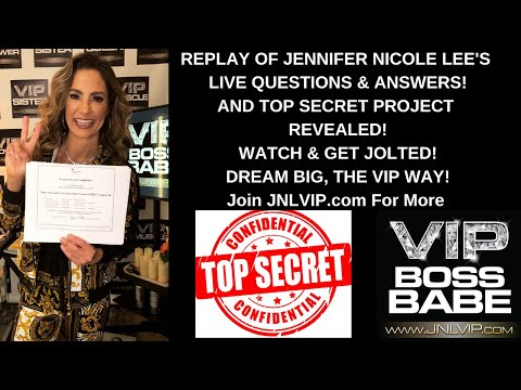 JENNIFER NICOLE LEE LIVE QUESTION & ANSWERS!