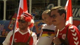 Vor EM-Duell: Deutsche und Dänen feiern gemeinsam