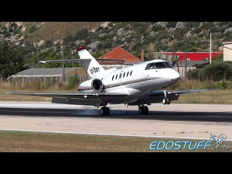 NetJets Europe - Hawker 800XP - Close-up Landing at Split airport SPU/LDSP