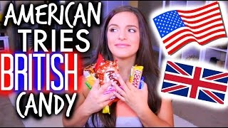 AMERICAN TRIES BRITISH CANDY | Casey Holmes