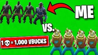 1 Elimination = 1,000 Vbucks With 16 Player Squad!