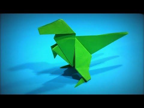Origami Dinosaur | How to Make a Paper Dinosaur (Tyrannosaurus T-Rex) DIY - Easy Origami