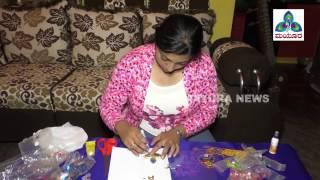 Maanini  | Amrutha Varshini | DIY Kundan Rangoli at Home | Episode 11