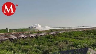 Controlan fuga de gas en Nextlalpan
