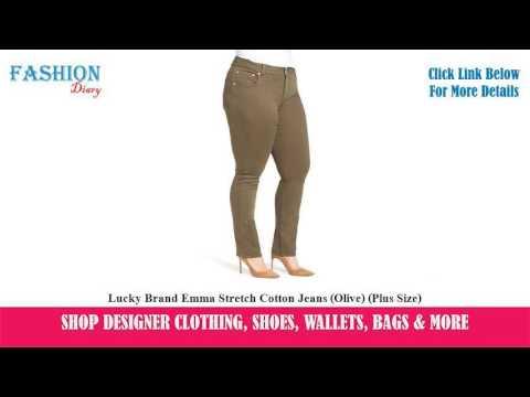 ★★★-lucky-brand-emma-stretch-cotton-jeans-(olive)-(plus-size)-★★★