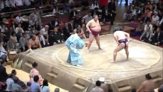 Kokugikan 29.05.2016 - at the Kyokutenho danpatsu-shiki/intai-ozumo...