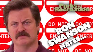 Ron Swanson HATES... | Parks and Recreation | Comedy Bites