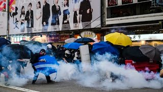 Hong Kong protestors clash with police as demonstrations escalate