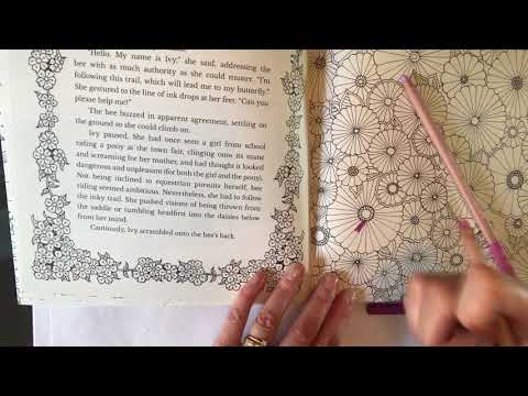 Johanna Basford Ivy The Inky Butterfly Pastel Pencils Tutorial