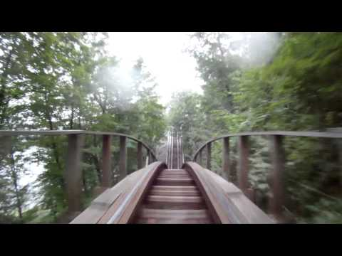 Boulder Dash POV Wooden Roller Coaster On-Ride Lake Compounce 1080p HD