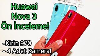 Huawei Nova 3 ön inceleme - YAPAY ZEKALI 4 KAMERA!
