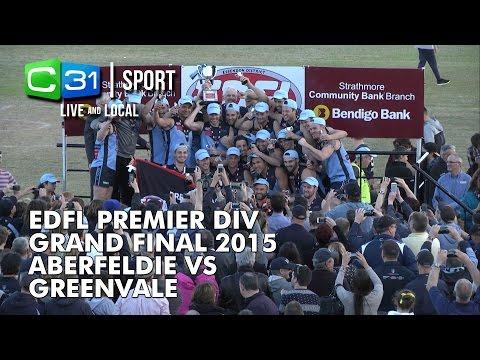 2015 Premier Division EDFL Grand Final Live - Aberfeldie FC Vs Greenvale FC