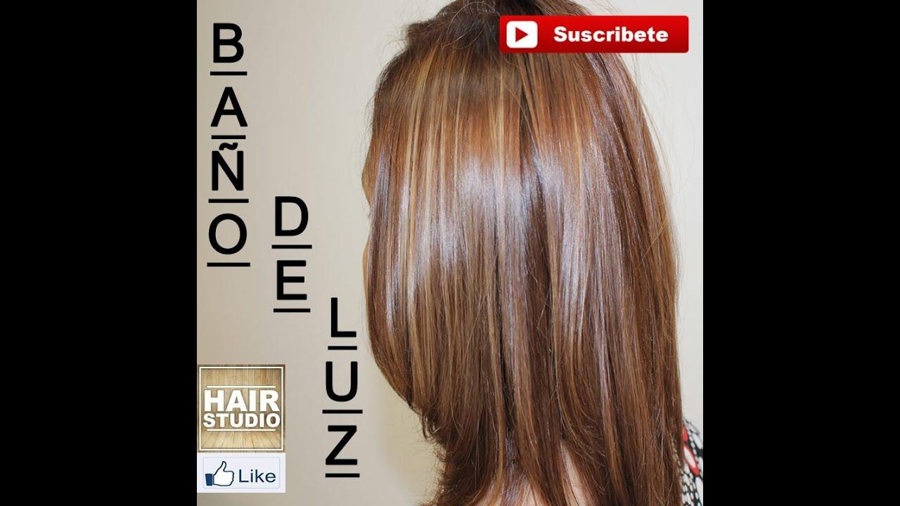 Como hacer un ba o de luz en el cabello youtube for Bano de color antes y despues