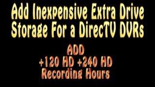 DirecTV DVR 2TB or 3TB eSATA Hard Drive Expansion