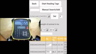 How to Scan Weights to your FarmWizard APP