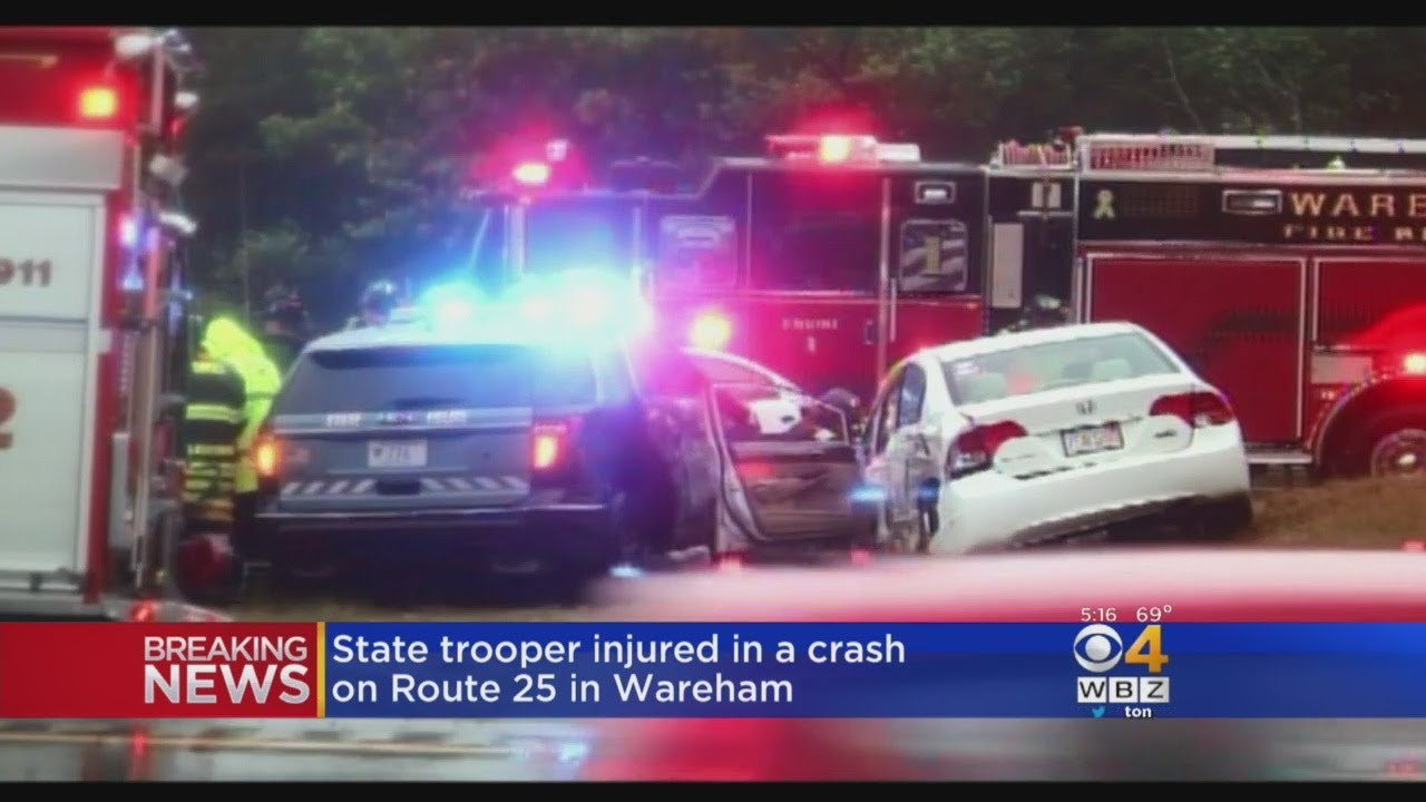 State Trooper, Driver Hospitalized After Wareham Crash