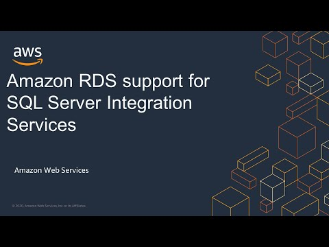 Amazon RDS support for SQL Server Integration Services