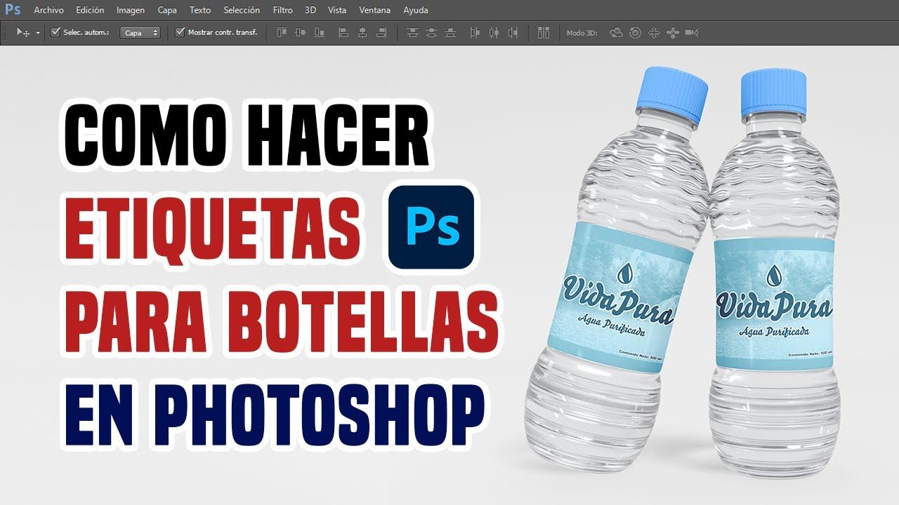 Botella De Agua Crear Etiquetas...
