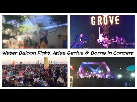 Water Baloon Fight & Atlas Genius in concert | Vlog