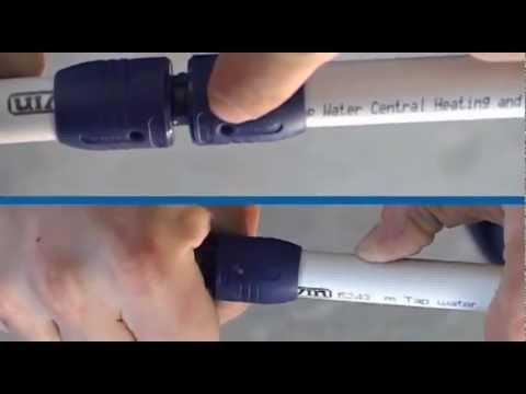 Видео обзор системы соединений пластиковых труб  Wavin.