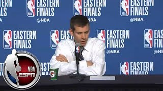 [FULL] Brad Stevens after Game 6: LeBron James 'put on a tremendous show tonight' | NBA on ESPN