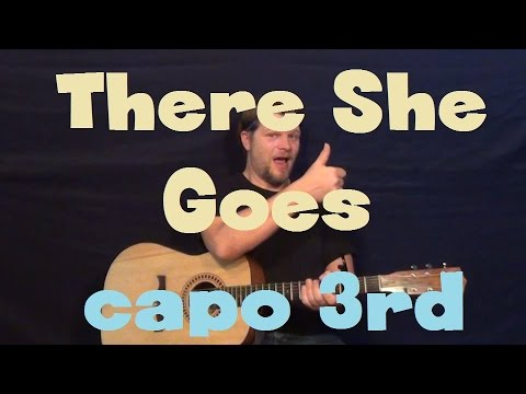 There She Goes (Sixpence None The Richer) Easy Guitar Lesson How to Play Capo 3rd Fret