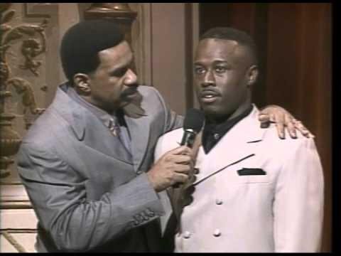 Steve Harvey and Grayland Allen at the Apollo