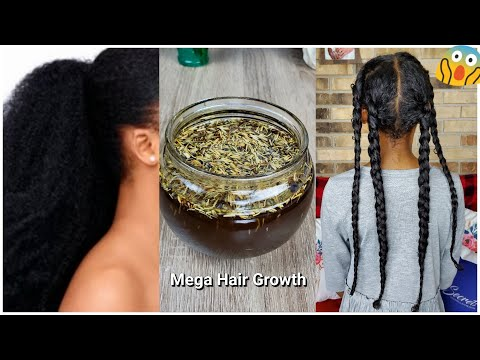 Use This Herbal Oil For Massive Thicker Hair | Reverse Alopecia Block DHT Stop Thinning & Baldness