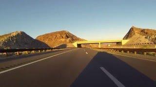 U.S. Route 93 South past strange unconnected overpasses, Arizona, 19 December 2015, GP020040