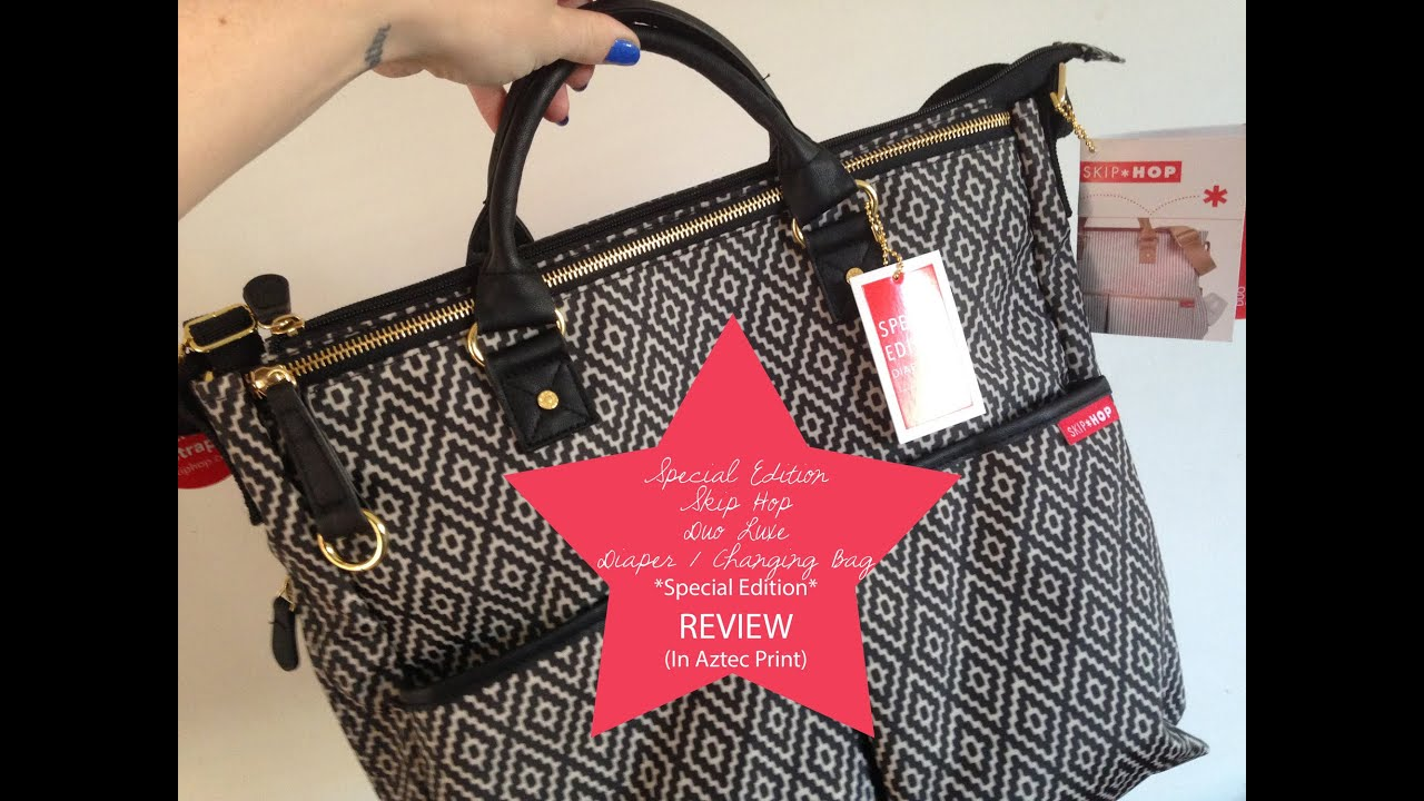 Review My Skip Hop Duo Luxe Aztec Special Edition Baby Changing Diaper Bag You