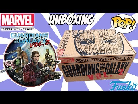 Unboxing Marvel Collector Corps Guardiões da Galáxia Vol. 2 - Funko POP - Mystery Box Caixa Surpresa