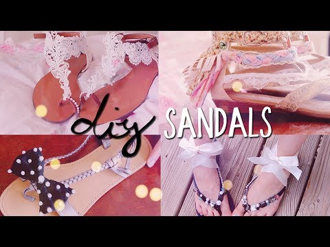 DIY Summer Sandals (4 styles) Redecorate / Restyle your Flip Flops!